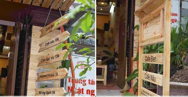 Mẫu bảng hiệu gỗ thông pallet đẹp nhất dành cho quán cà phê