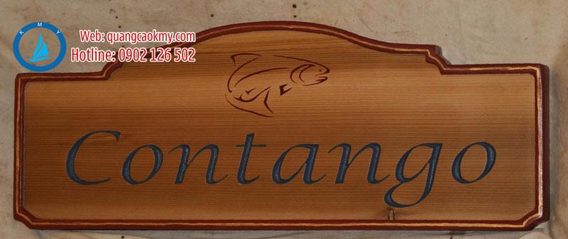 bảng hiệu gỗ Sài Gòn
