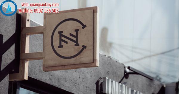 bảng hiệu gỗ khắc CNC đẹp