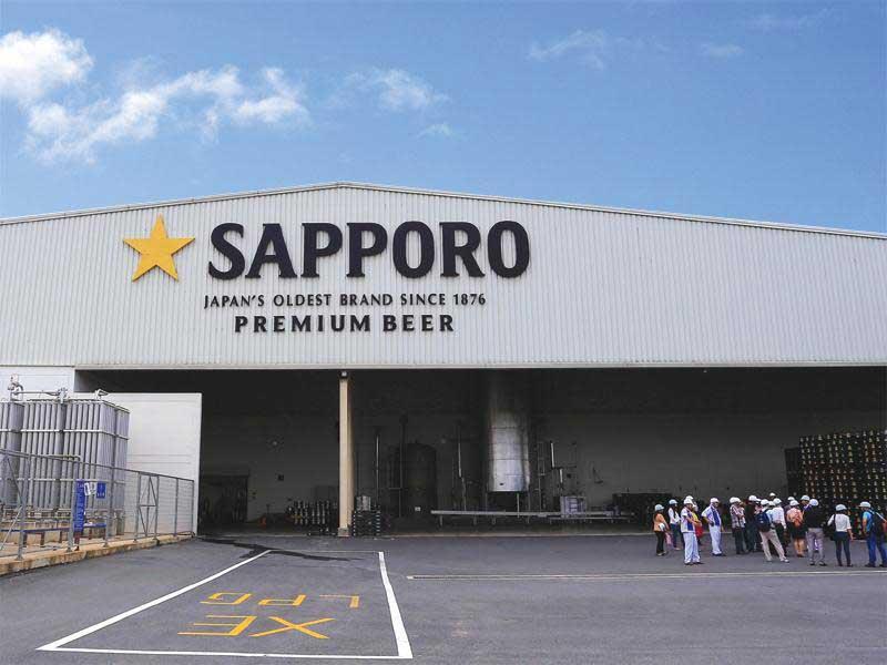 Bảng hiệu công ty bia Sapporo