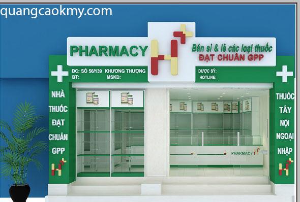 mẫu bảng hiệu phổ biến cho nhà thuốc
