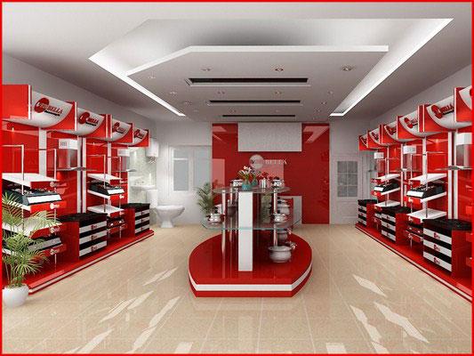 trang trí nội thất showroom