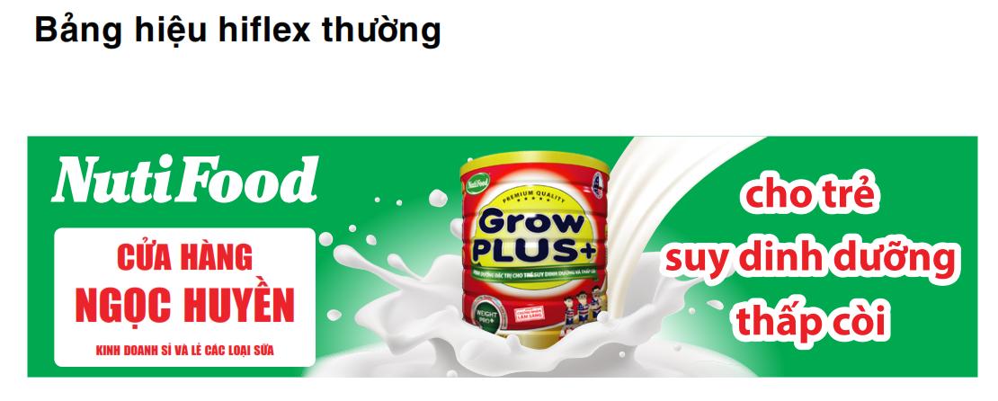 Làm bảng hiệu hiflex sữa Nutifood
