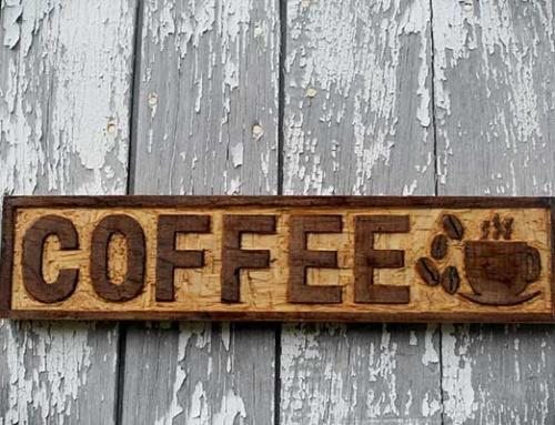 Làm bảng hiệu gỗ quán cà phê
