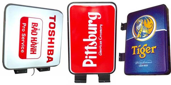 Mẫu hộp đèn ép nổi các hãng bia