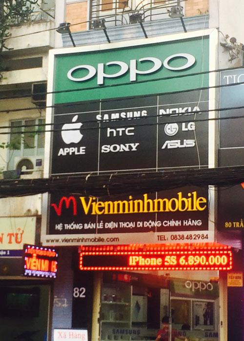 bang hiệu alu đẹp cho cửa hàng điện thoại