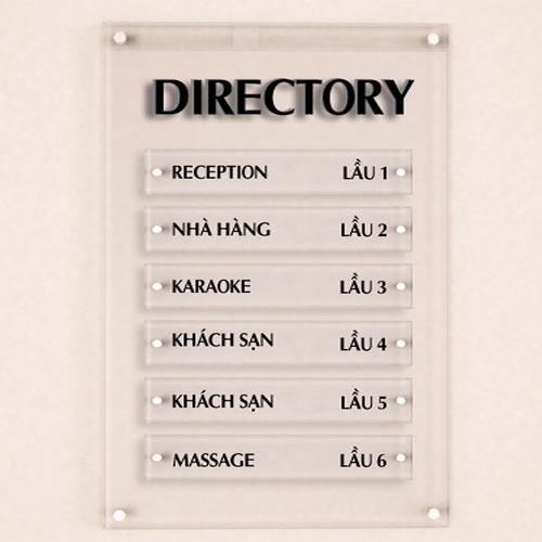 mẫu bảng chỉ dẫn văn phòng