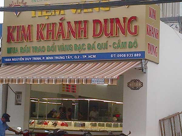 mẫu bảng hiệu đẹp cho tiệm vàng