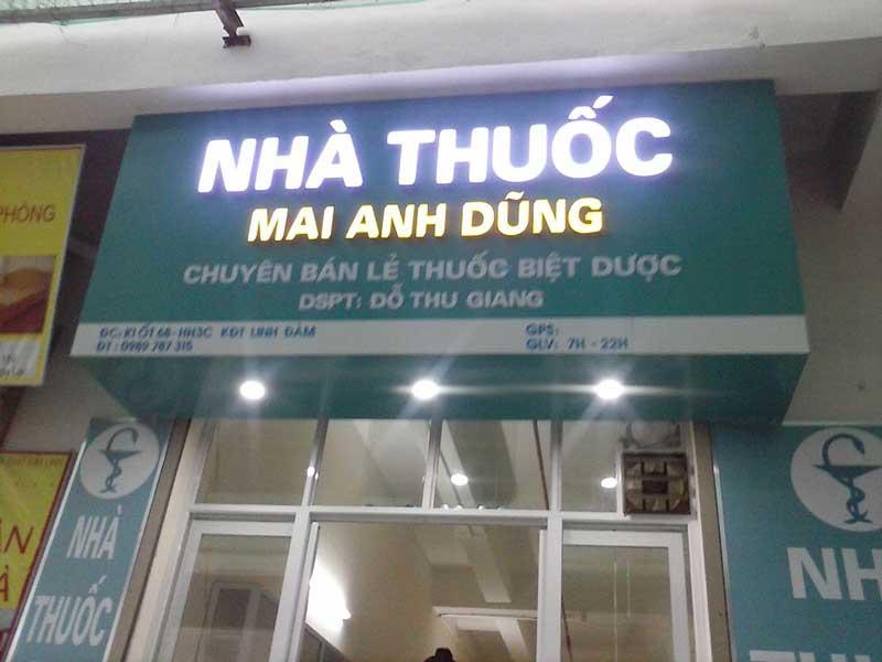 mẫu bảng hiệu đẹp nhất cho nhà thuốc