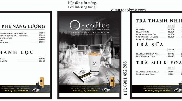 Hộp đèn menu cà phê Trung Nguyên