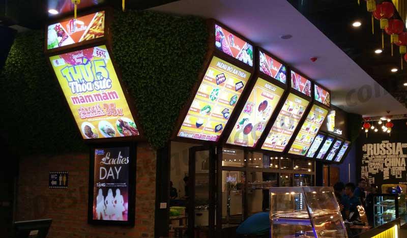 Hộp đèn menu nhà hàng