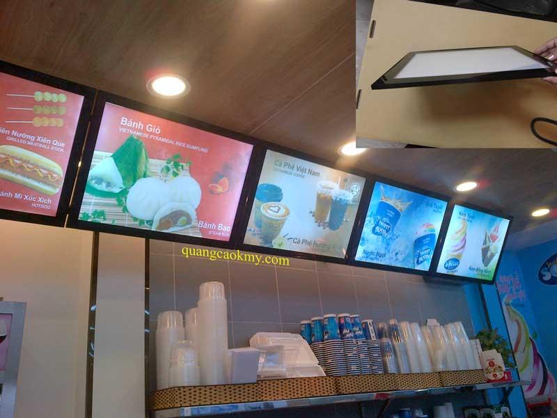 hộp đèn menu siêu mỏng