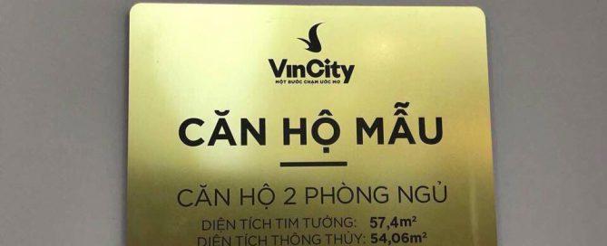 Mẫu bảng hiệu nhỏ cho khu căn hộ cao cấp