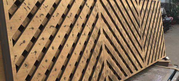 Cắt CNC vách ngăn gỗ