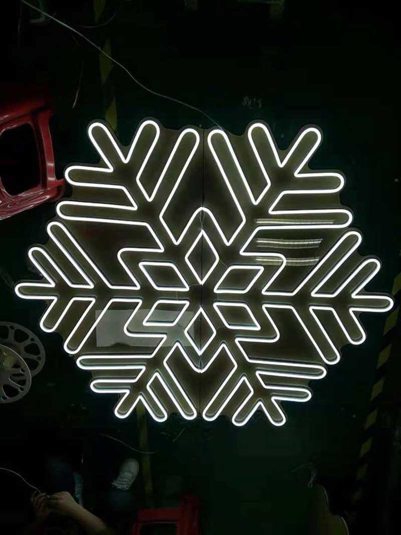 hoa văn trang trí bằng đèn led neon