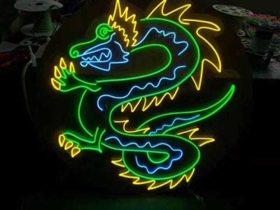 Làm logo rồng sáng đèn