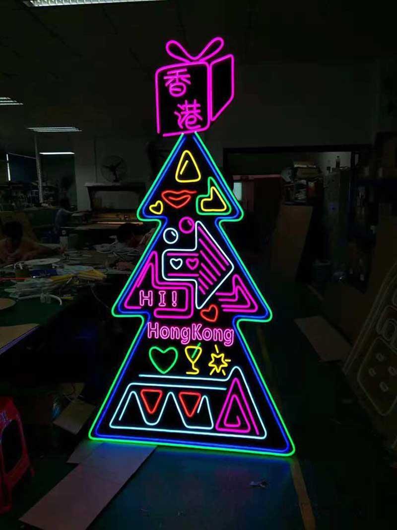 trang trí quảng cáo bằng led light full color