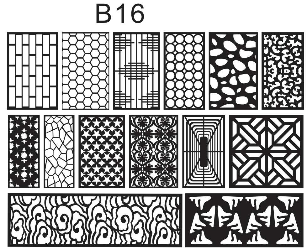 B16 vách ngăn phòng hình khối