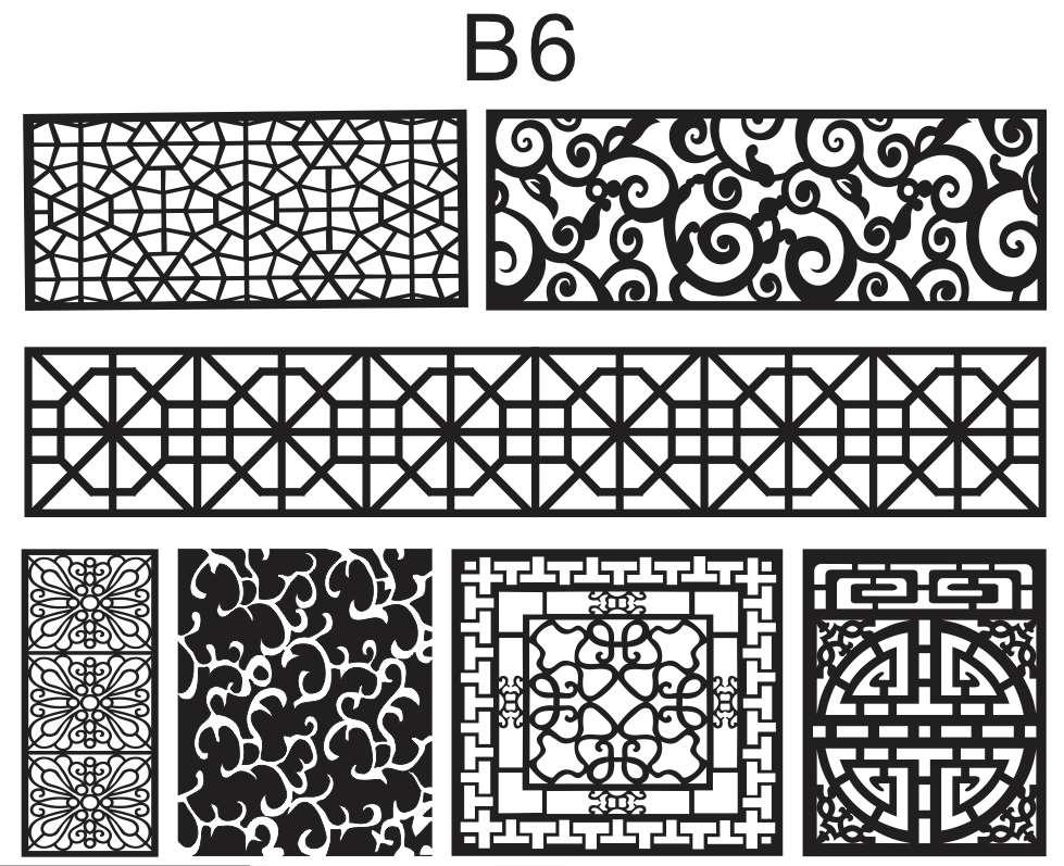 B6 Mẫu hoa văn trang trí nội thất