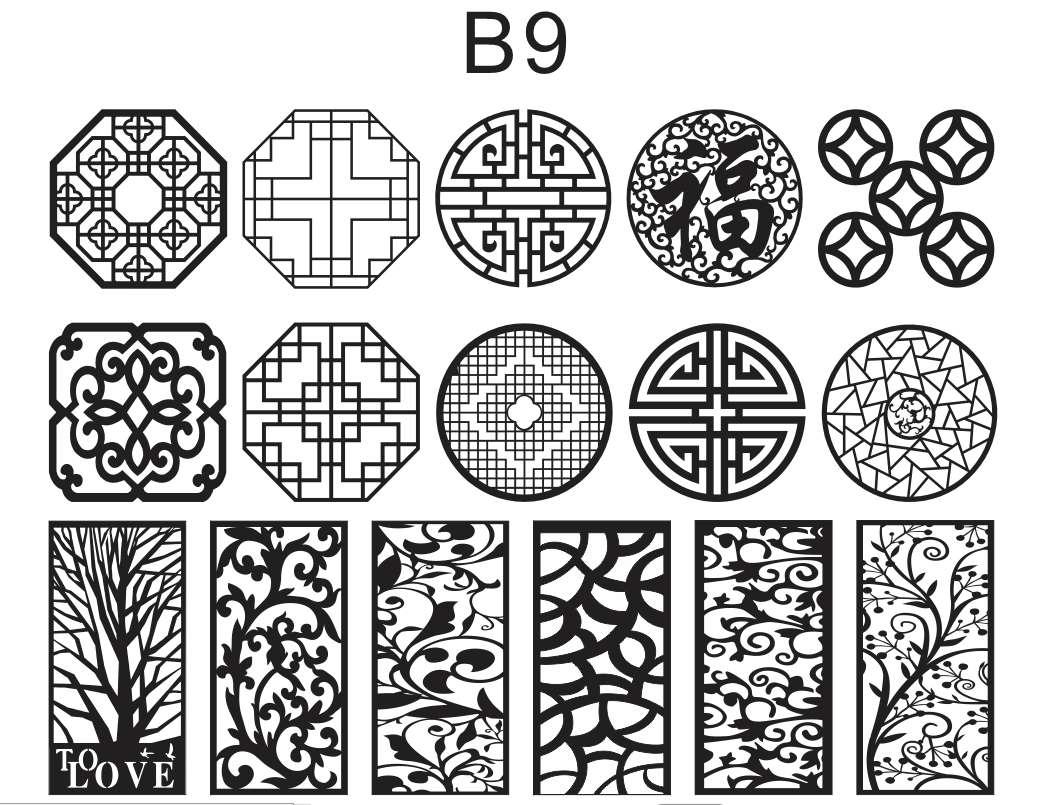 B9 Tổng hợp hoa văn cnc hình tròn