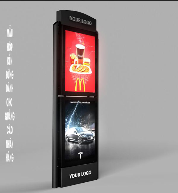 hộp đèn quảng cáo nhãn hàng thông dụng