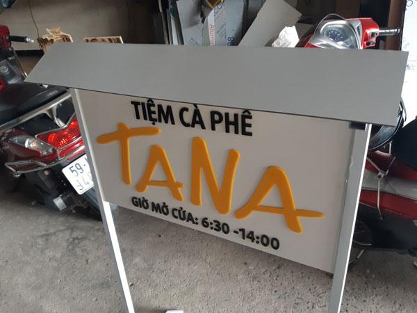 Mẫu biển quảng cáo nhỏ cho tiệm cà phê